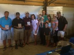 David Hodge, Rick Salazar, Cody Hodge, Kelly McGee 1st place, Elizabeth May, Cannon Bruce May, Michael May, Amy May, Gav
