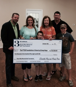 In 2015 we donated $10,358 to The PTSD Foundation's annual BBQ cook-off last year! Then received another donation from