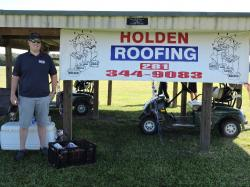 Beverage Shack and beverage cart sponsored by Holden Roofing - Cody Joyce