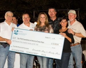 In 2014 we donated $8364 to The PTSD Foundation of America/Camp Hope.